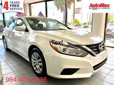 2016 Nissan Altima for sale at Auto Max in Hollywood FL