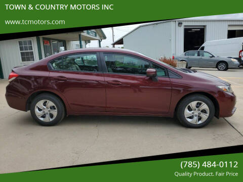 2015 Honda Civic for sale at TOWN & COUNTRY MOTORS INC in Meriden KS