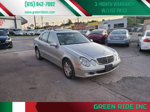 2005 Mercedes-Benz E-Class for sale at Green Ride Inc in Nashville TN