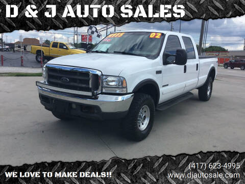 2002 Ford F-350 Super Duty for sale at D & J AUTO SALES in Joplin MO