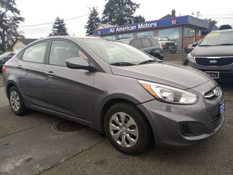 2017 Hyundai Accent for sale at All American Motors in Tacoma WA