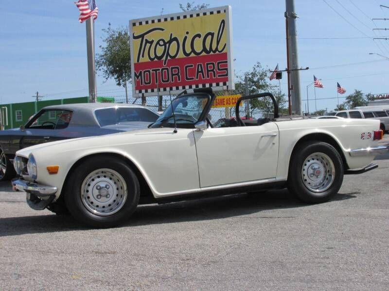 1975 Triumph TR6 for sale at TROPICAL MOTOR CARS INC in Miami FL