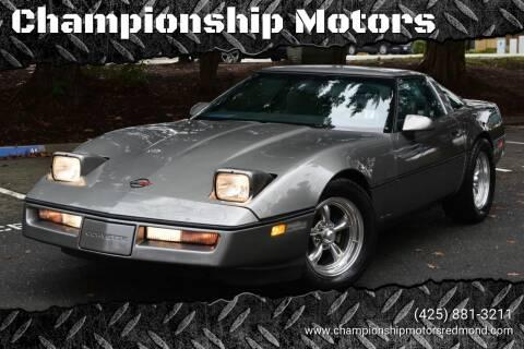 1984 Chevrolet Corvette for sale at Mudarri Motorsports - Championship Motors in Redmond WA