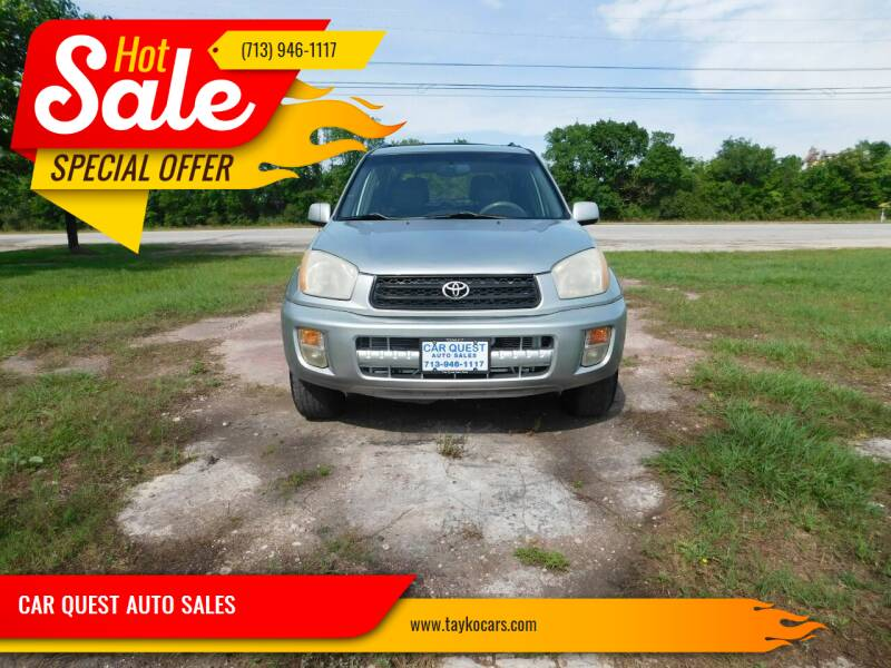 2001 Toyota RAV4 for sale at CAR QUEST AUTO SALES in Houston TX
