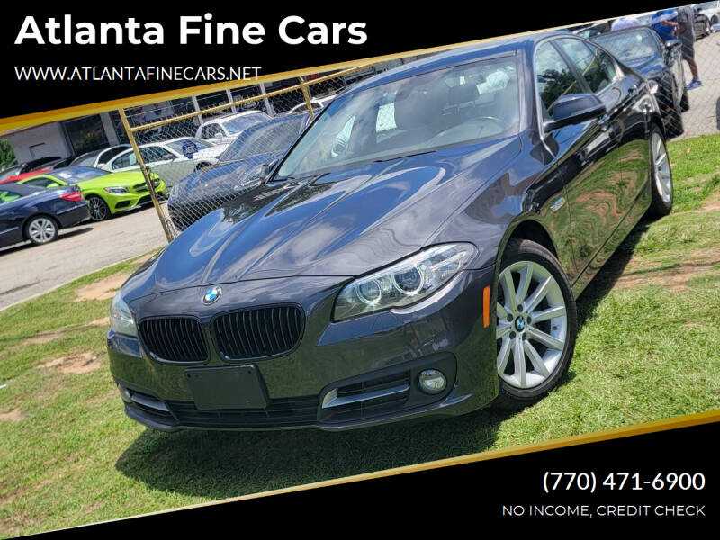2015 BMW 5 Series for sale at Atlanta Fine Cars in Jonesboro GA