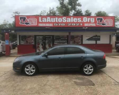 2012 Ford Fusion for sale at LA Auto Sales in Monroe LA