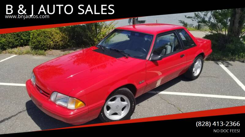1993 Ford Mustang for sale at B & J AUTO SALES in Morganton NC