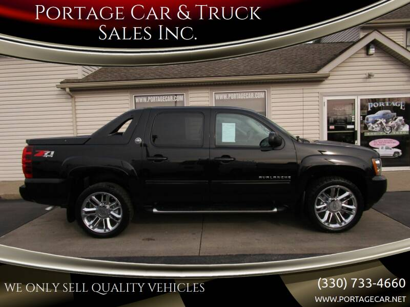 2013 Chevrolet Avalanche for sale at Portage Car & Truck Sales Inc. in Akron OH