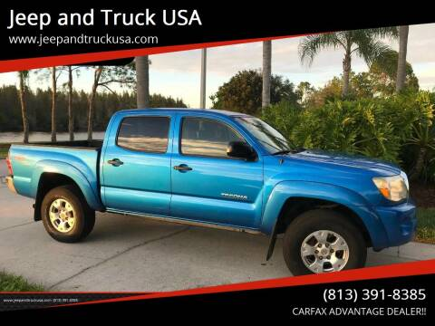 2005 Toyota Tacoma for sale at Jeep and Truck USA in Tampa FL