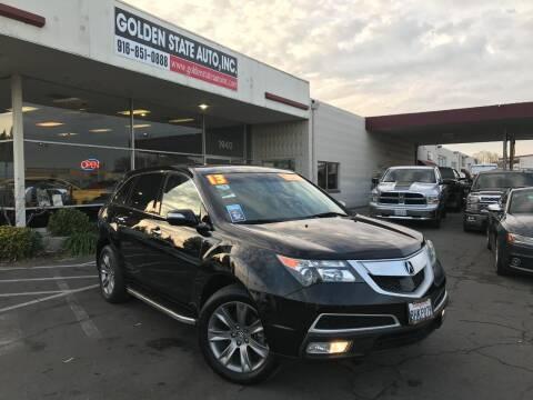 2013 Acura MDX for sale at Golden State Auto Inc. in Rancho Cordova CA