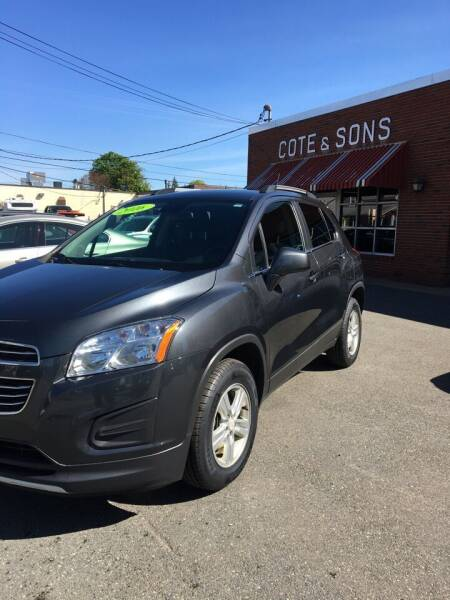 2016 Chevrolet Trax for sale at Cote & Sons Automotive Ctr in Lawrence MA