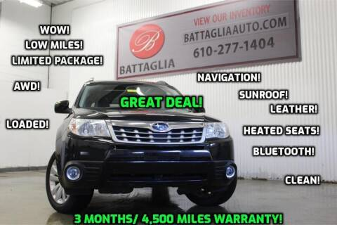 2012 Subaru Forester for sale at Battaglia Auto Sales in Plymouth Meeting PA