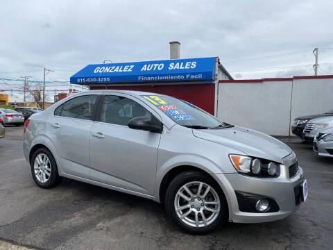 2013 Chevrolet Sonic for sale at Gonzalez Auto Sales in Joliet IL