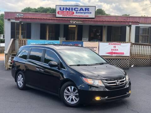 2014 Honda Odyssey for sale at Unicar Enterprise in Lexington SC