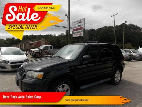 2007 Ford Escape for sale at Deer Park Auto Sales Corp in Newport News VA