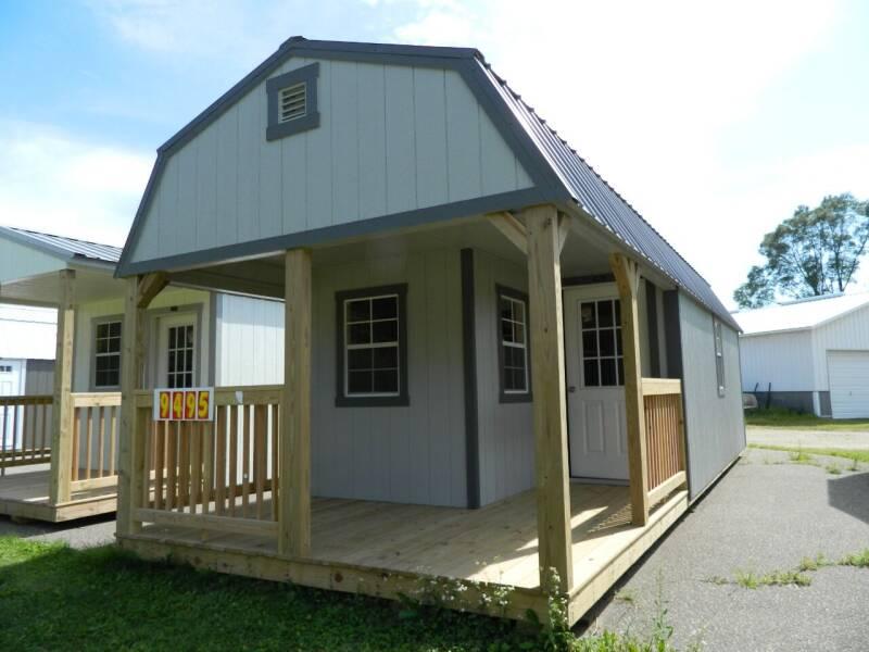2021 premier lofted barn cabin 12x32 for sale at Triple R Sales in Lake City MN
