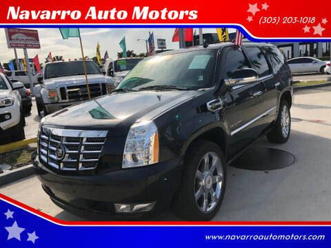 2012 Cadillac Escalade Hybrid for sale at Navarro Auto Motors in Hialeah FL