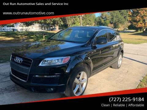2009 Audi Q7 for sale at Out Run Automotive Sales and Service Inc in Tampa FL