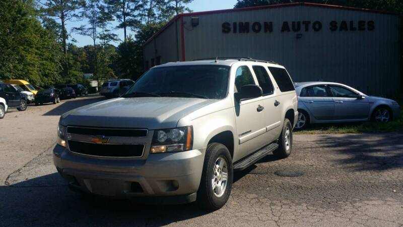 2007 Chevrolet Suburban for sale at Simon's Auto Sales in Clayton NC
