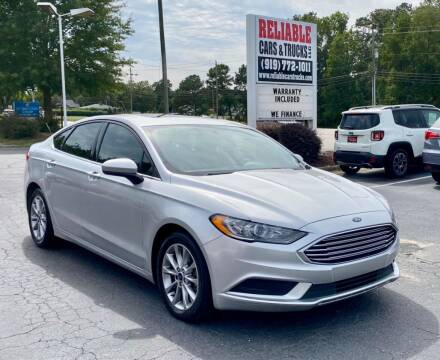 2017 Ford Fusion for sale at Reliable Cars & Trucks LLC in Raleigh NC