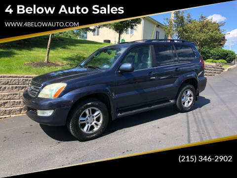 2004 Lexus GX 470 for sale at 4 Below Auto Sales in Willow Grove PA
