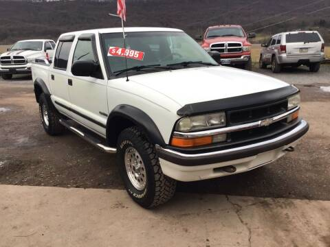 2001 Chevrolet S-10 for sale at Troys Auto Sales in Dornsife PA