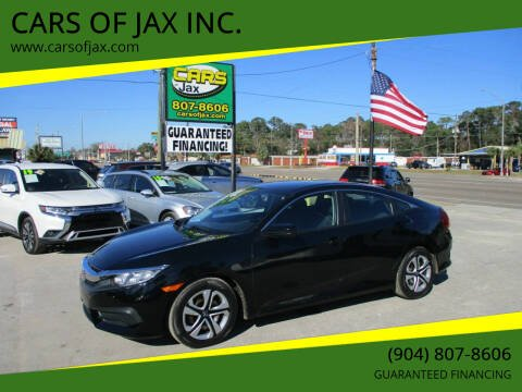 2017 Honda Civic for sale at CARS OF JAX INC. in Jacksonville FL