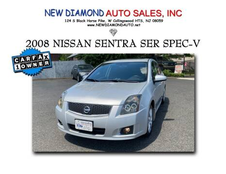 2008 Nissan Sentra for sale at New Diamond Auto Sales, INC in West Collingswood Heights NJ