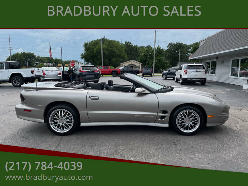 2002 Pontiac Firebird for sale at BRADBURY AUTO SALES in Gibson City IL