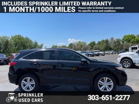 2014 Acura RDX for sale at Sprinkler Used Cars in Longmont CO