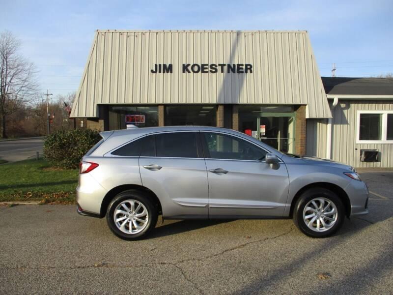 2018 Acura RDX for sale at JIM KOESTNER INC in Plainwell MI
