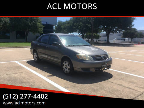 2004 Toyota Corolla for sale at ACL MOTORS in Austin TX
