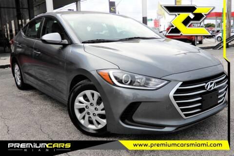 2017 Hyundai Elantra for sale at Premium Cars of Miami in Miami FL