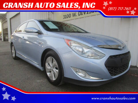 2013 Hyundai Sonata Hybrid for sale at CRANSH AUTO SALES, INC in Arlington TX