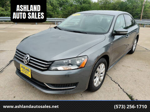 2015 Volkswagen Passat for sale at ASHLAND AUTO SALES in Columbia MO