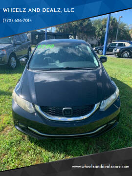 2015 Honda Civic for sale at WHEELZ AND DEALZ, LLC in Fort Pierce FL