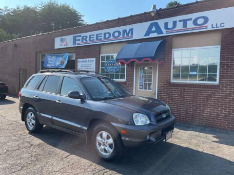 2006 Hyundai Santa Fe for sale at FREEDOM AUTO LLC in Wilkesboro NC