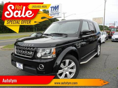 2016 Land Rover LR4 for sale at AUTOTYM INC in Fredericksburg VA
