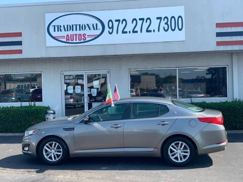 2013 Kia Optima for sale at Traditional Autos in Dallas TX
