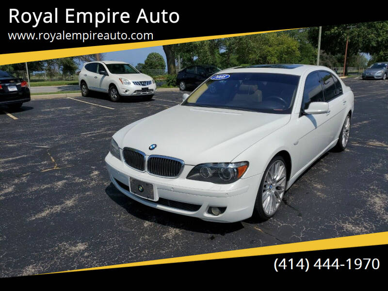 2008 BMW 7 Series for sale at Royal Empire Auto in Milwaukee WI