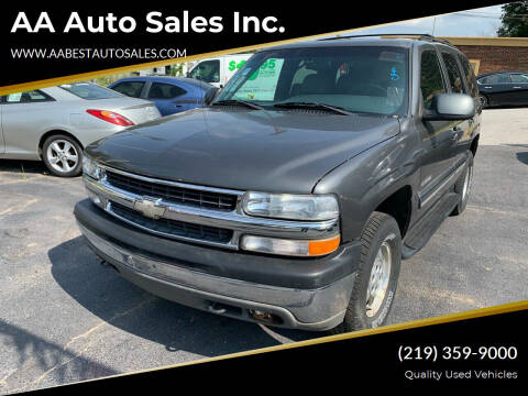 2001 Chevrolet Tahoe for sale at AA Auto Sales Inc. in Gary IN