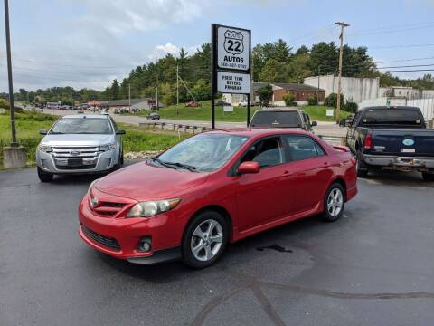 2011 Toyota Corolla for sale at Route 22 Autos in Zanesville OH