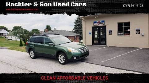 2013 Subaru Outback for sale at Hackler & Son Used Cars in Red Lion PA