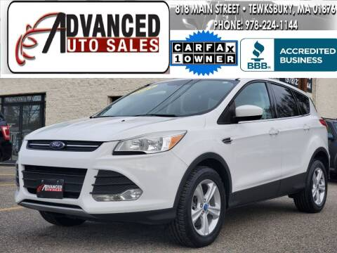 2013 Ford Escape for sale at Advanced Auto Sales in Tewksbury MA