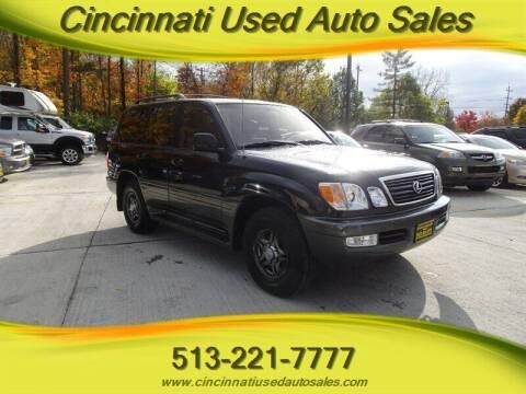 2001 Lexus LX 470 for sale at Cincinnati Used Auto Sales in Cincinnati OH