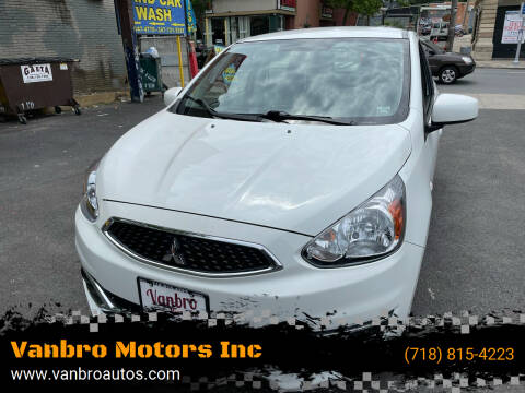 2020 Mitsubishi Mirage for sale at Vanbro Motors Inc in Staten Island NY