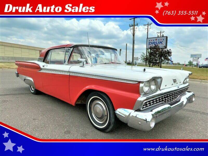 1959 Ford Fairlane 500 Retractable HT for sale at Druk Auto Sales in Ramsey MN