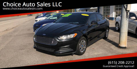 2014 Ford Fusion for sale at Choice Auto Sales LLC - Cash Inventory in White House TN