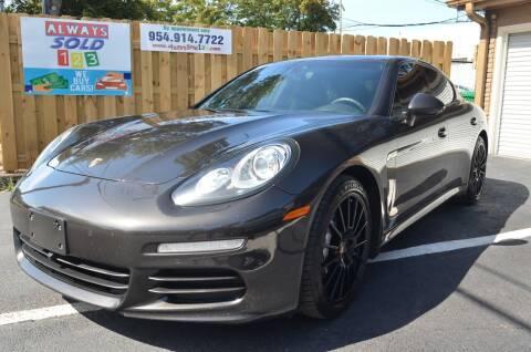 2014 Porsche Panamera for sale at ALWAYSSOLD123 INC in Fort Lauderdale FL