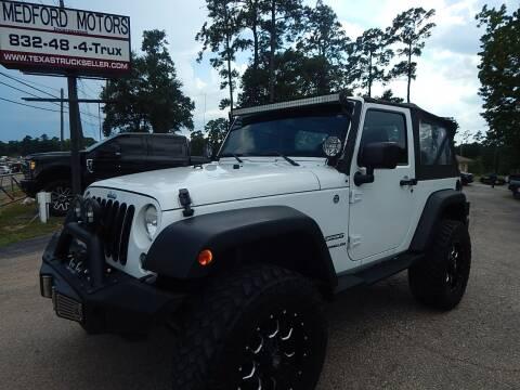 2014 Jeep Wrangler for sale at Medford Motors Inc. in Magnolia TX